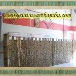 Biombo de bambu para dividir,uma opção inteligente.